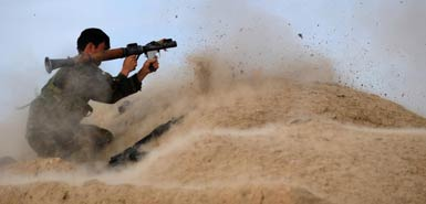 Afghan soldier opens fire in Musa Qala (Photo: NIck Cornish)